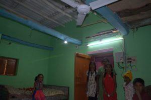 villager benefited through solar dc